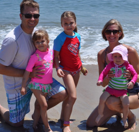 The Belsher Family on the Beach