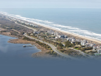 Aerial view of Corolla, NC